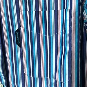 Faconnable Tops - Women's FACONNABLE Striped Button Down Shirt SZ 6